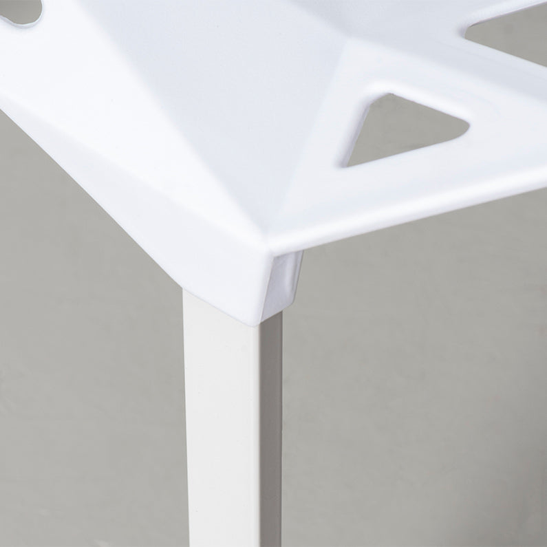 White Geometric Chair