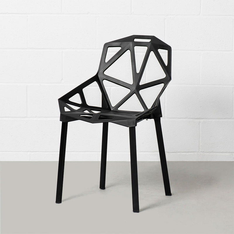 Black Geometric Chair
