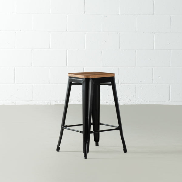 TOLIX - Black Counter Stool (65 cm)