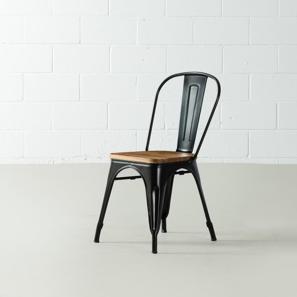 TOLIX - Wooden Seat Dining Chair