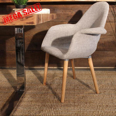 Eames & Saarinen Scandinavian Fabric Organic Chair-Final Sale