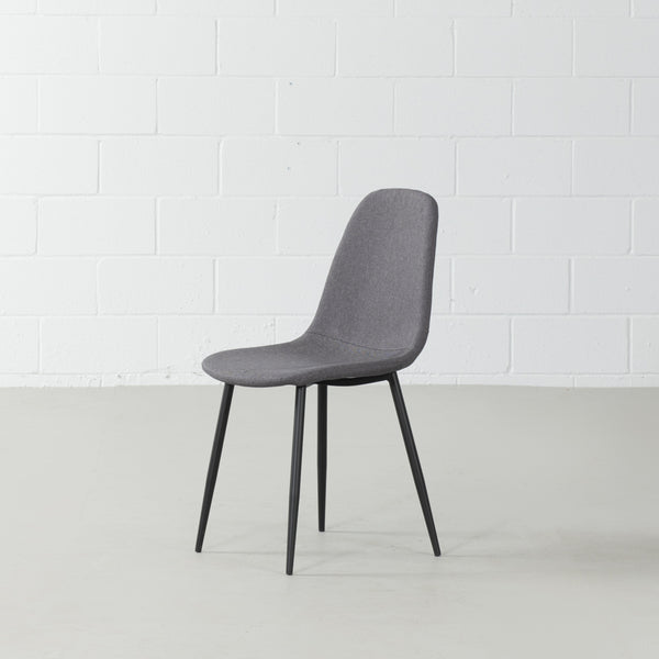 MILAN - Eames Style Dark Grey Fabric Dining Chair