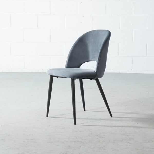 WALTER - Grey Velvet Chair