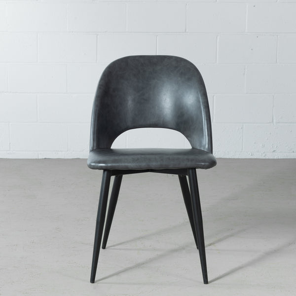 WALTER - Grey Leather Chair
