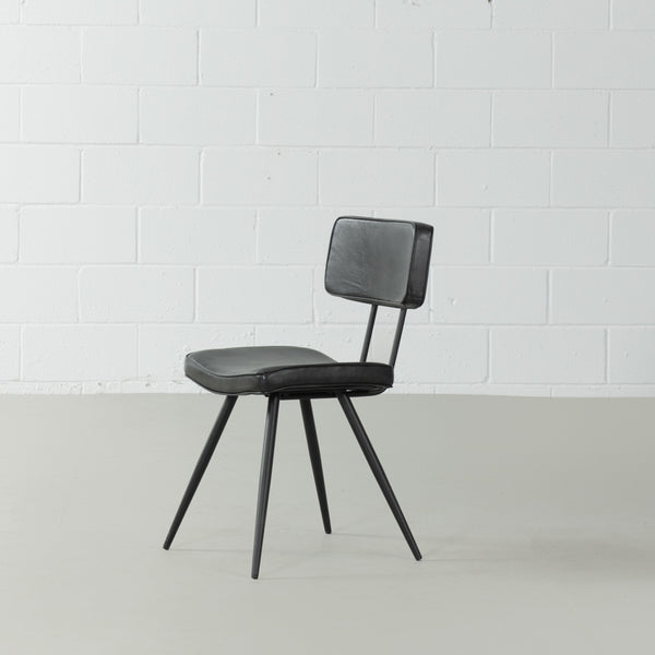 BLAKE - Leather Dining Chair (Black)