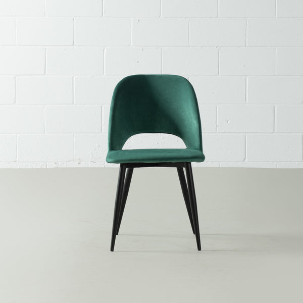 WALTER - Green Velvet Chair