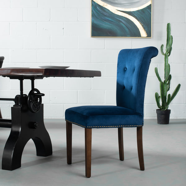 NORD - Blue Velvet Dining Chair