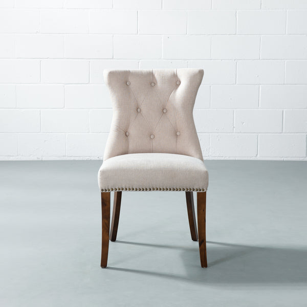 FRANCE - Cream Fabric Dining Chair