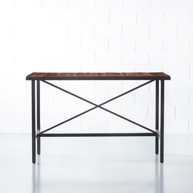 HOLMEN - Table de Bar de bois en d'Acacia (160 cm)