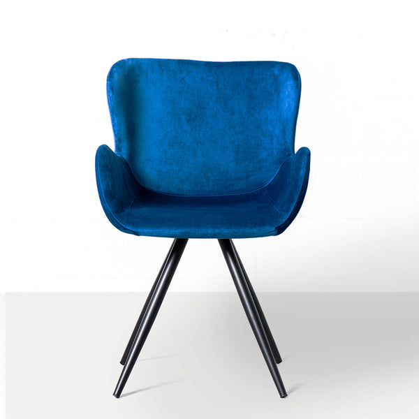 BALI - Blue Velvet Dining Chair