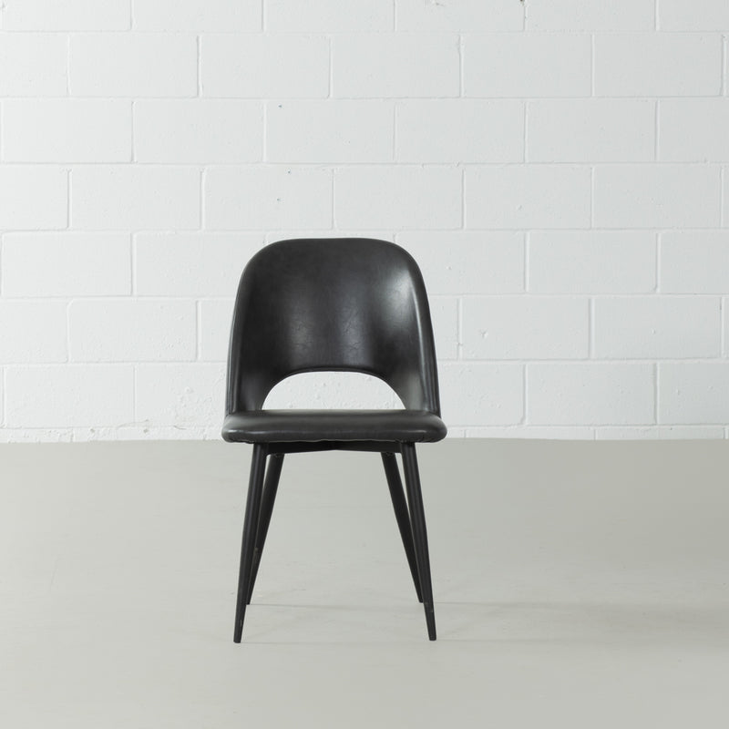 WALTER - Black Leather Chair