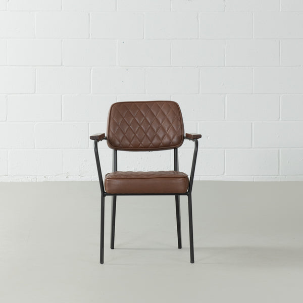 MARIANA - Brown Leather Dining Chair
