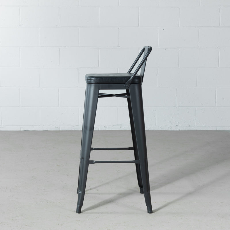 ARI - Black Bar Stool (75 cm)