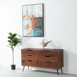 MADRID - Acacia 6-Drawer Dresser