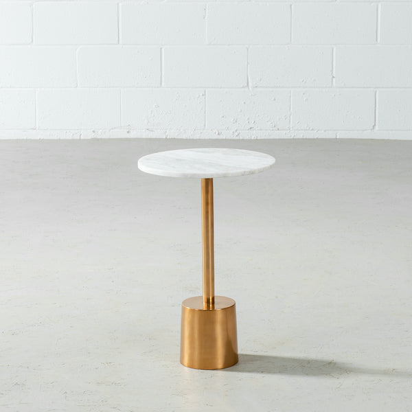 NUBIA - Side Table With Brass Base