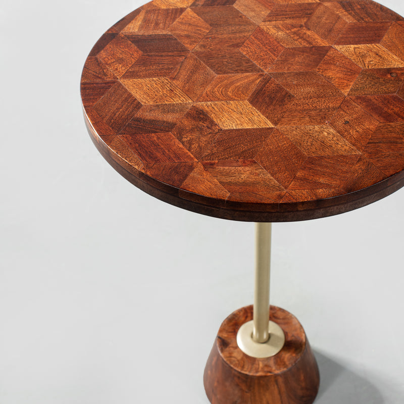 AMINA - Acacia Side Table