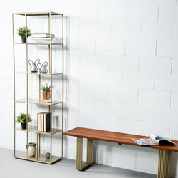 IDRISSA - Metal Bookcase