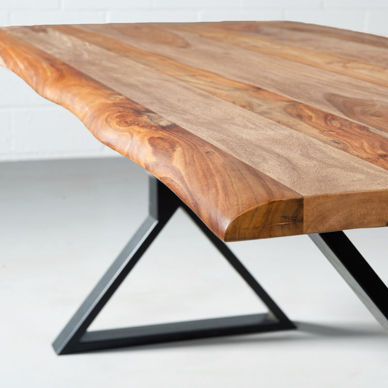CARIBOO - Rosewood Live Edge Table X Black