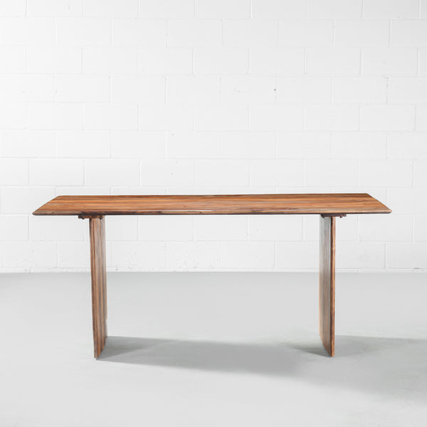 IAN - Rosewood Table with Wooden Plank Legs