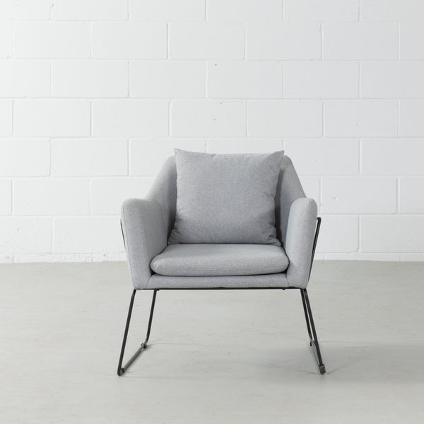 BROOK - Grey Fabric Lounge Chair