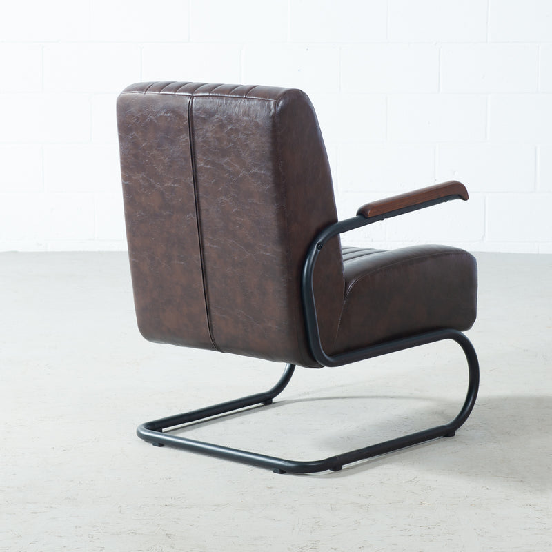 COPPOLA - Brown Vintage Leather Lounge Chair