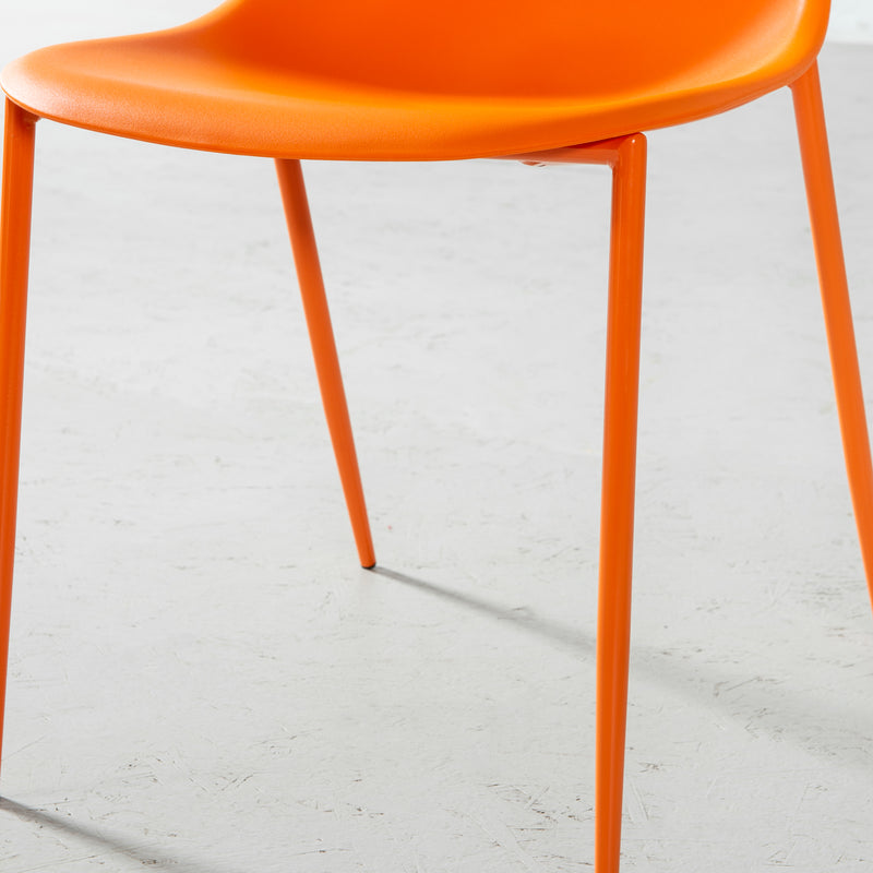 ELLEN - chaise de salle à manger orange