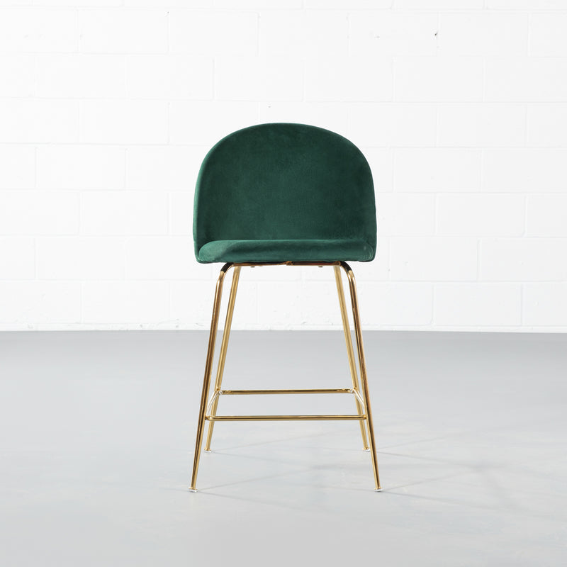 BRANSON - Green Velvet Counter Stool