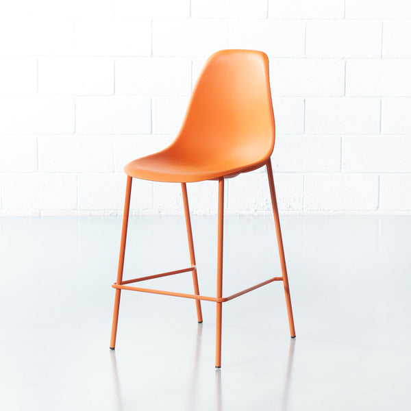 ELLEN - tabouret de comptoir orange