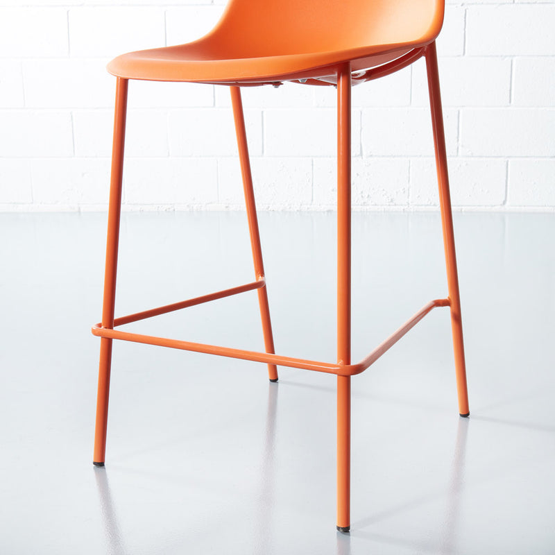 ELLEN - Orange Counter Stool