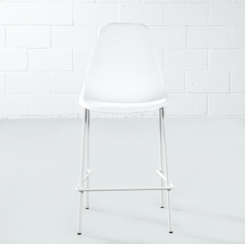 ELLEN - White Counter Stool