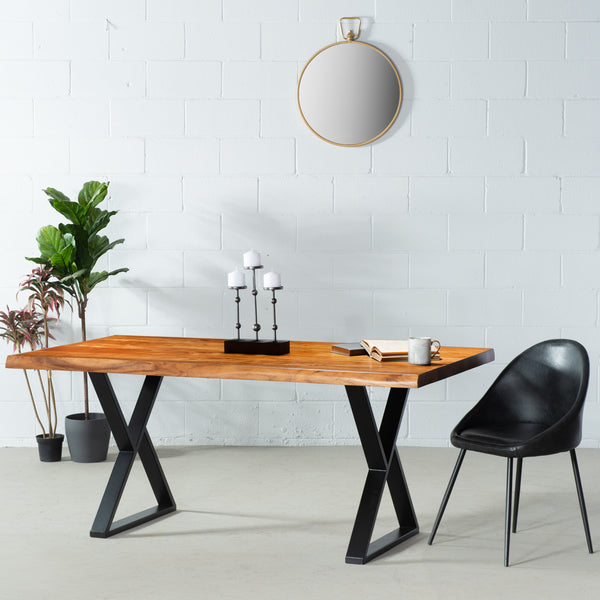 ZED - Acacia Live Edge Table Z Black