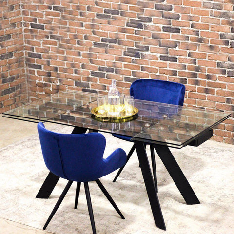 MAX - Extendable Glass Dining Table-Table-Wazo Furniture