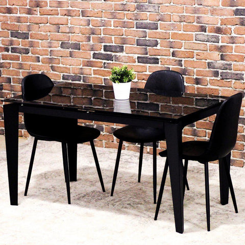 EVERLY - Extendable Glass Dining Table - Wazo Furniture
