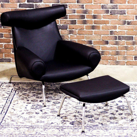 OX - Lounge Chair and Ottoman-Lounge Chairs-Wazo Furniture