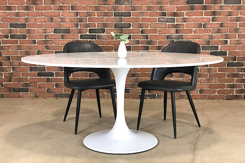 Tulip Marble Oval Table - 168cm