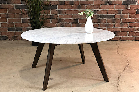 JILL Marble Coffee Table (Round) - Wazo Furniture