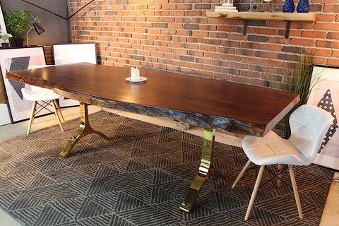 Natural Solid Wood Live Edge Table For Montreal Toronto Canada
