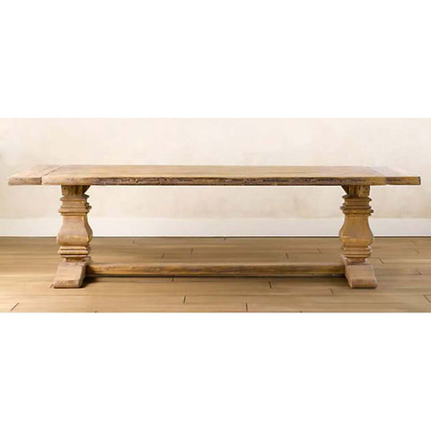 Alabama Salvaged Trestle Farmhouse Rectangular Wooden Table