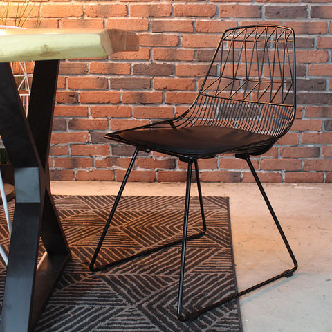 ARROW Industrial Wire Side Chair - Wazo Furniture