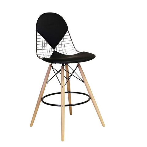Eames Style Wire Bikini Bar Stool with Eiffel Legs