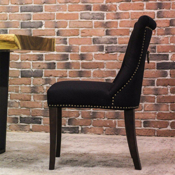 FRANCE - Black Fabric Dining Chair - Wazo Furniture