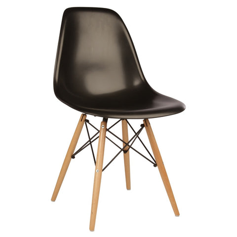 Black Eames Style Molded Side Chair