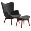 Grant Featherstone Contour Chair Dark Grey w/ Multi Colored Buttons