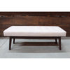 Brookville Wooden Bench with Fabric Button Seat