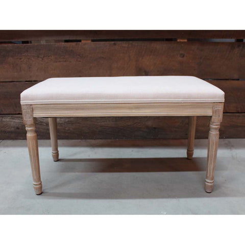 Westhampton Wooden Bench with Fabric Top- Final sale