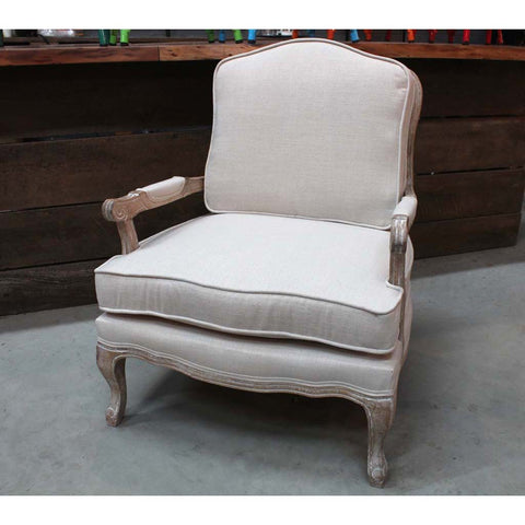 Riverdale Classic Upholstered Wooden Armchair