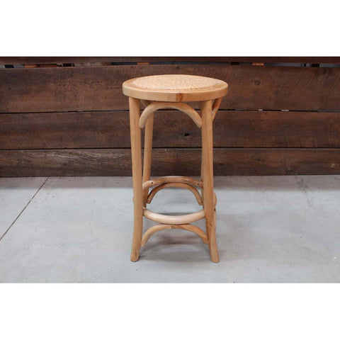Woodbridge Round Top Wooden Bar Stool