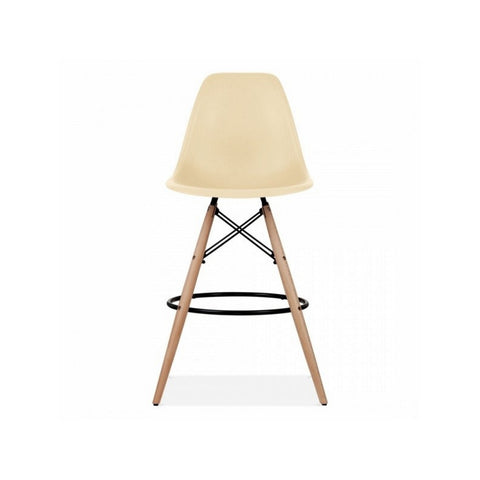 "Charles Eames Style Eiffel Leg Bar Stool 27"" - Cream - Final Sale"