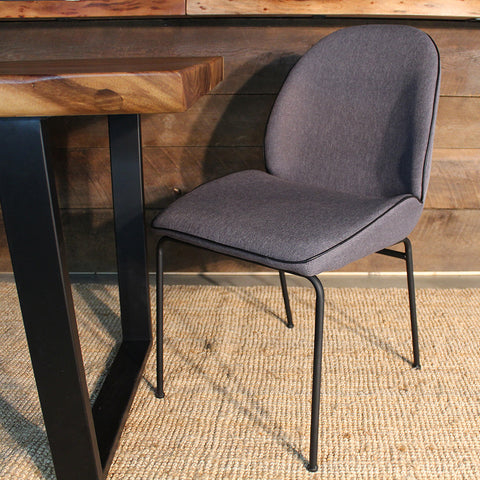 DIANA Dining Chair- Dark Grey Fabric - Wazo Furniture