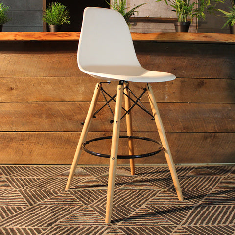 "Charles Eames Style Eiffel Leg Bar Stool 27"" - Wazo Furniture"